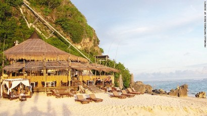 Grass Hut Beach Bar in Bali