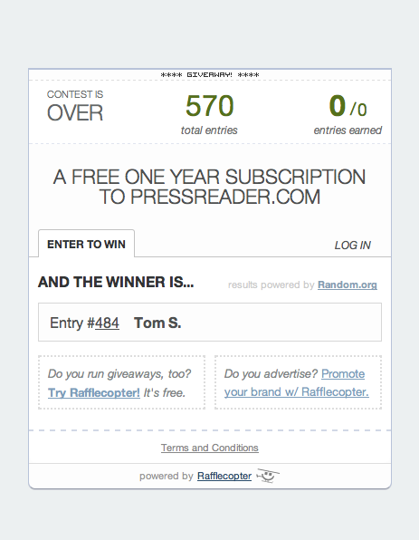 PressReader Winner