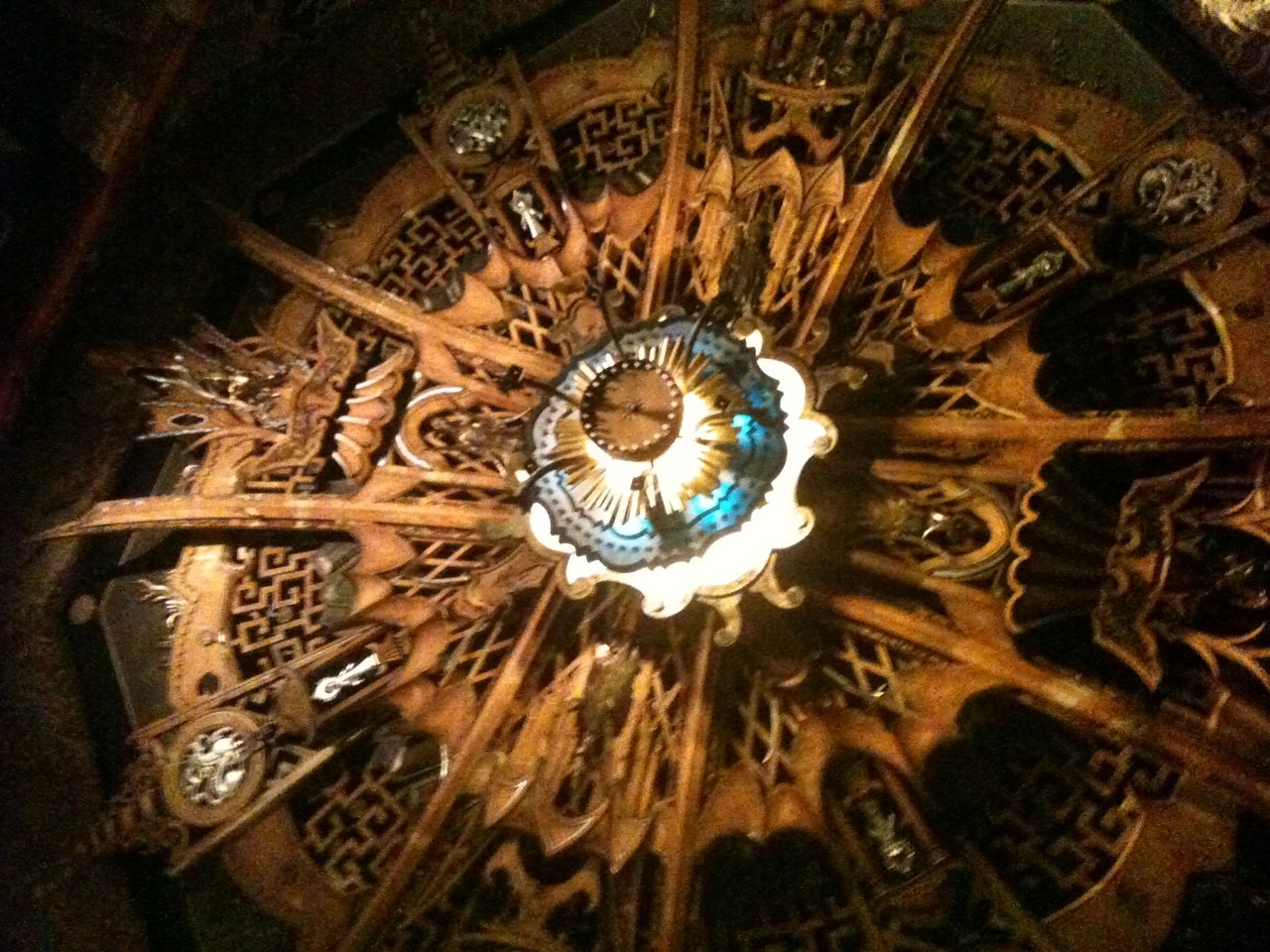Historical Ceiling of Groman's Chinese Theatre in Hollywood